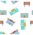 Public building pattern cartoon style vector image vector image