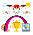 quadrocopter racing competition new sport vector image vector image