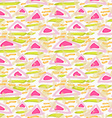 Rough brush green and pink triangles vector image vector image
