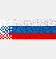 russia web banner of russian pixel art flag vector image