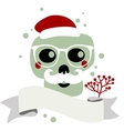 Santa Claus skull vector image vector image