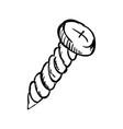 screw doodle draw vector image
