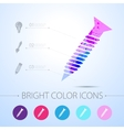 screw icon with infographic elements vector image vector image