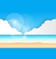 sea view beach background vector image vector image
