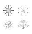 set fireworks celebration scene vector image vector image
