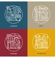 set logos literature music language vector image