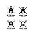 set spartan logo designs vector image vector image