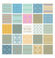 set winter seamless backgrounds vector image