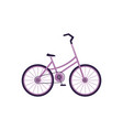 side view cartoon style touristic bike bicycle vector image
