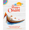 snakeboat race in onam celebration background for vector image vector image