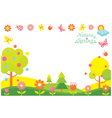 Spring Season Icons Frame vector image vector image