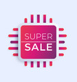 super sale banner design vector image