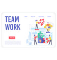 teamwork smart organization landing page vector image