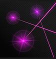 three laser beams vector image