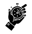 time management - hand timer icon vector image vector image