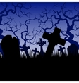 tombs and trees vector image vector image