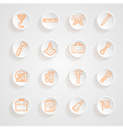 Tools functions menu icons set vector image