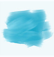 turquoise watercolor brush stroke background vector image vector image