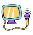 ultrasonic scanner for medical examination icon vector image