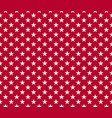 usa style seamless pattern white stars on red vector image