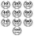 10 100 anniversary laurel wreath icon4 vector image