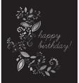 Silver greeting Happy birthday card vector image