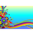 abstract background color festival template vector image