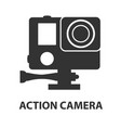action camera logo camera for active sports vector image