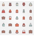 Bag colorful icons vector image