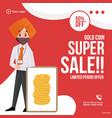 banner design super sale vector image vector image
