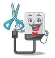 barber hard drive in shape of mascot vector image vector image