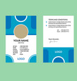 blue nice id card vector image vector image