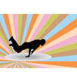 breakdance with background 2 - vector image vector image