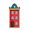 Building icon in cartoon style isolated on white vector image vector image