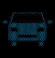 car composition icon of halftone bubbles vector image vector image