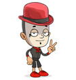 cartoon funny white french mime boy character vector image vector image