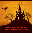 cartoon happy halloween template vector image vector image