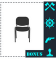 chair icon flat vector image