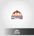 city food logo template vector image vector image