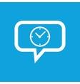 Clock message icon vector image vector image