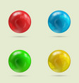 collection of four balls vector image