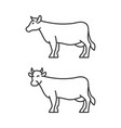 cow icons on white background line style vector image vector image