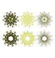 Decorative floral pattern motif vector image vector image
