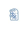discountslabelscissors line icon concept vector image