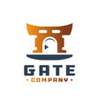door gate logo vector image