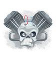 emblem for bikers vector image