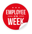 employee of the week label sticker vector image