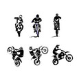 extreme bike big set 6x motocross vector image vector image