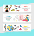 flat travel horizontal banners vector image vector image