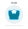 floor scales in a circle flat isolated vector image